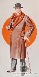 Double Breasted Men's Fur Coat 1928
