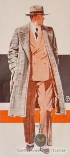 Fur Lined Men's Overcoat