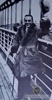 Rudolph Valentino in Fur Coat