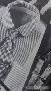 Bib Front Shirt with Horizontal Stripes 1936