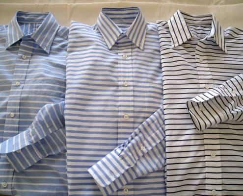 Bold Horizontal Stripe Shirts by Etutee