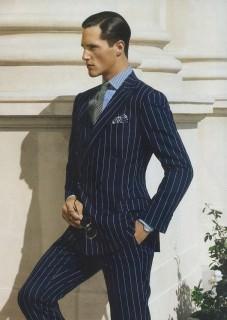 Chalk Stripe Suit Ralph Lauren