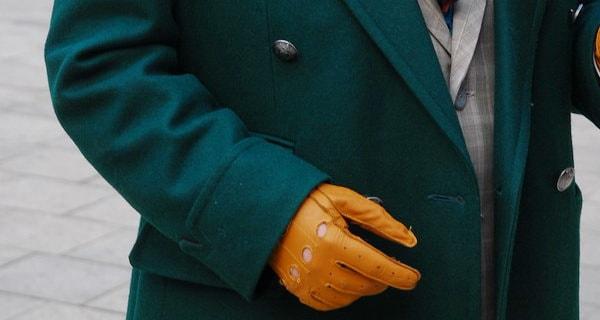 Gentleman's Query - Green Overcoat