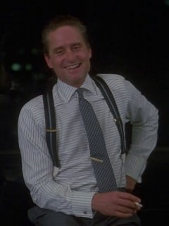 Gordon Gekko in Horizontal Stripe Shirt