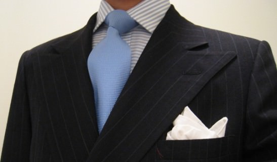 Light Blue Tie with Candy Stripe Shirt