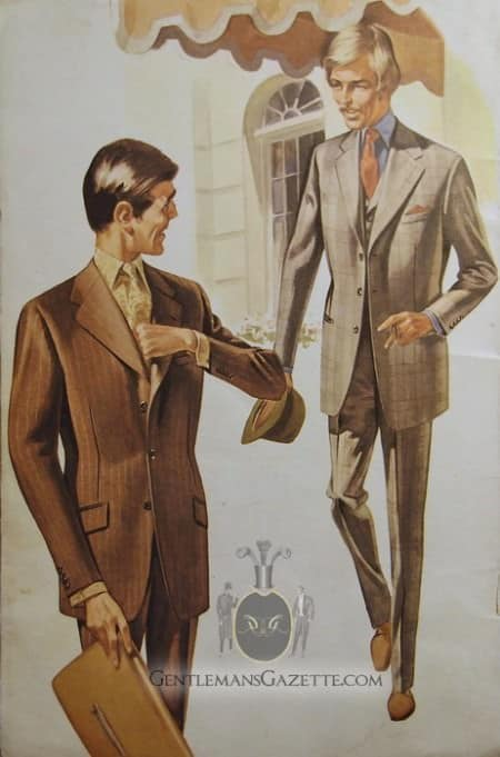 Brown & Grey Suit 1960s Style
