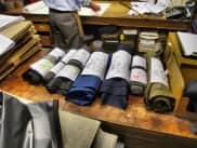 Cloth Waiting To Be Tailored into Bespoke Garments