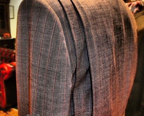 Jacket with Double Shooting Pleats