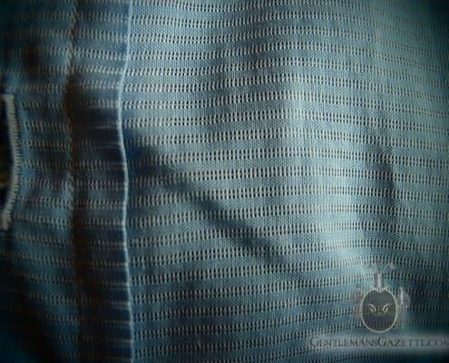 Open Weave Horizontal Stripe Shirt