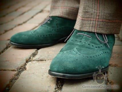 Scarosso Suede Shoe Green