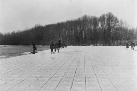 Ice Cutters - An Extinct Profession, Kissena Lake in Queens, ca. 1860-1900