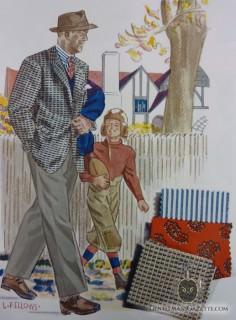 Laurence Fellows Fashion Illustration 1944