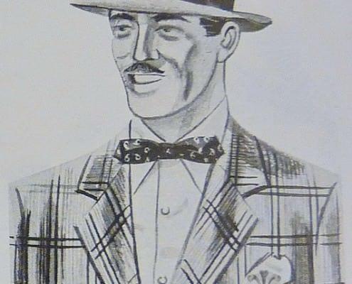 Pinch Crown Snap Brim Ha, Double Overplaid Tweed Jacket, Batwing Bow Tie
