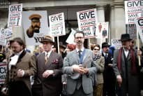 Savile Row Protestors