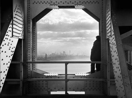 View of the city from the New York tower of George Washington Bridge, 168th Street & Hudson River, on December 22, 1936, Jack Rosenzwieg