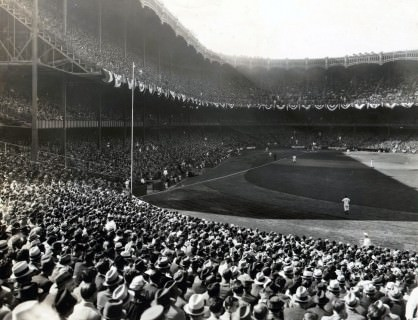 Yankee Stadium, ca. 1935-1947 - Look at all the different hats