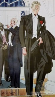 Young & Old Man in White Tie - 1933