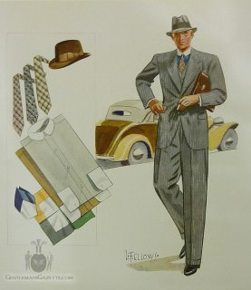 First Illustration by Laurence Fellows - Apparel Arts Spring 1933