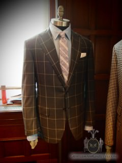 Oxxford Windowpane Check Sportscoat