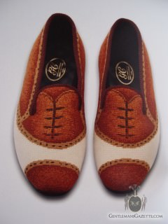 Spectator Full Brogue Slipper by George Cleverly
