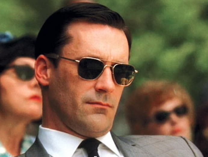 Don Draper's Hair Style with Sunglasses by Randolph Engineering