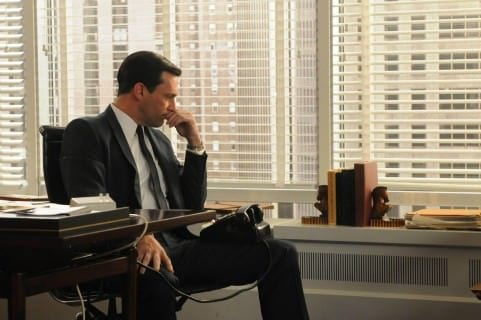 Don Draper in his Office