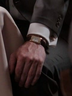 Gold Reverso and Cufflinks Don Draper in Mad Men Season 3