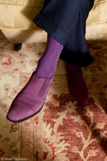 Purple Bespoke Shoes with Purple Socks