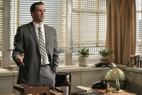 Jon Hamm aka Don Drape with slim belt