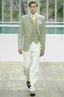 Green and White Three Piece Ensemble for Summer