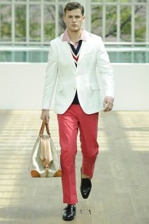 Hackett White Jacket with Piped Collar