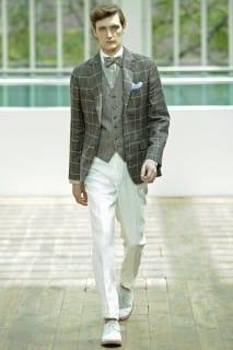 Hackett Windowpane Jacket with Bow Tie