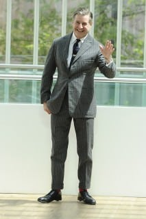 Jeremy Hackett with Patch Pockets and Horizontal Striped Details on Cuffs and Breast Pocket