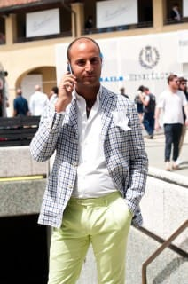 Pitti Uomo 2012 - Green Pants No Belt