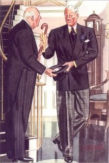 Staff in Evening Tailcoat with Striped Trousers