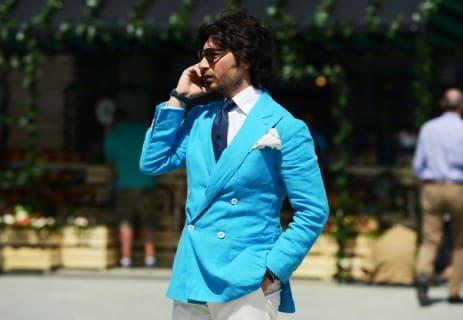 Turquoise Blazer in Kent Fasson