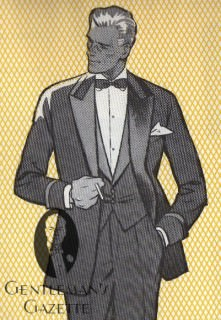 Tuxedo with Wide Cuffs and Wide Piping