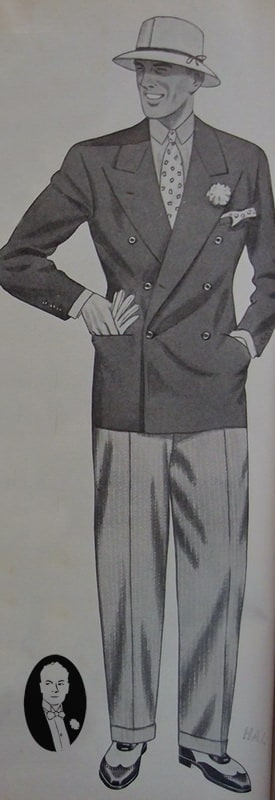Fresco Flannel Outfit 1930's as seen on the island Brioni