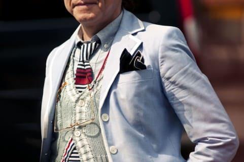 Knit Vest, Bold Tie & Flamboyant Pocke Square