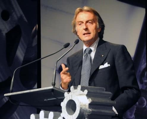 Luca di Montezemolo in Gray Business Suit