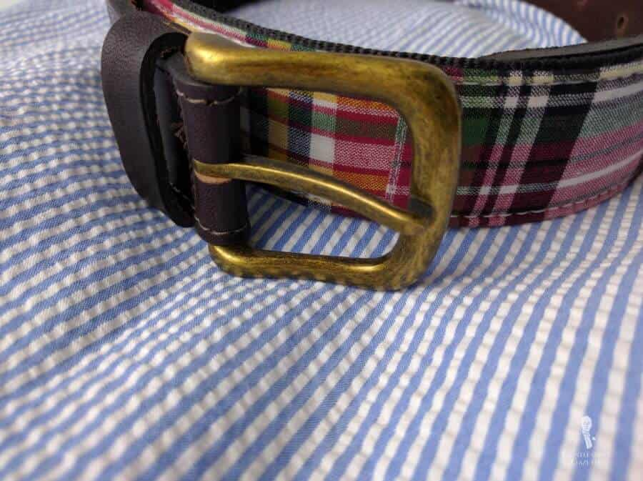 Madras Belt and a seersucker outfit