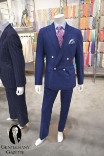 Navy Suit with Kent Fasson