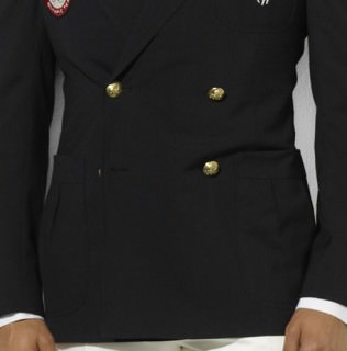Ralph Lauren Double Breasted Blazer Team USA with Patch Pockets