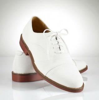 Ralph Lauren White Nubuck Shoe Olympics 2012