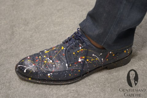 Red Toe Paint Splattered Shoes
