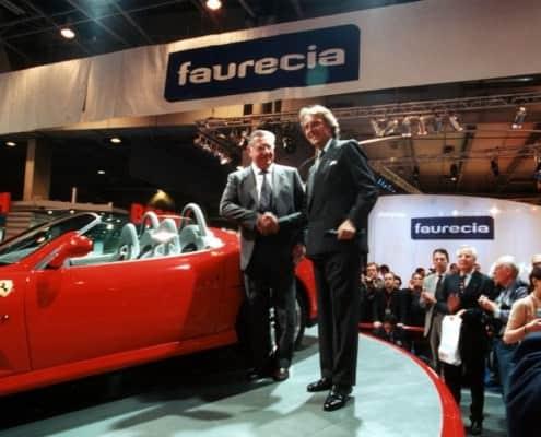 Sergio Pininfarina with Luca di Montezemolo