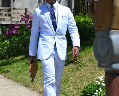 Single Breasted Seersucker Suit