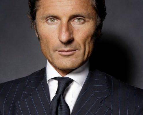 Stephan Winkelmann in Pin Stripe Suit, White Shirt & Dark Tie