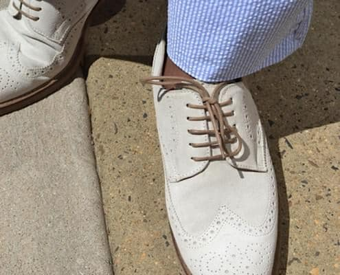 White Shoes with Seersucker