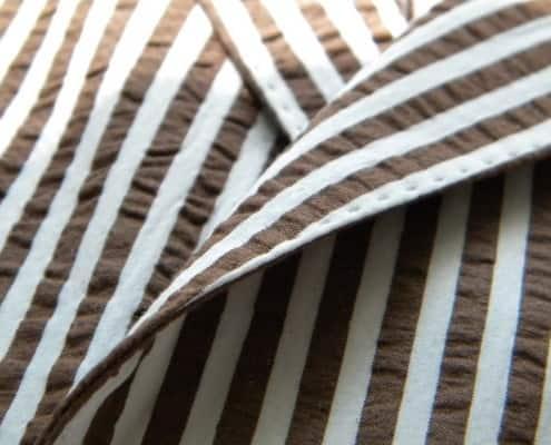 Wide Seersucker Stripes with Little Puckering